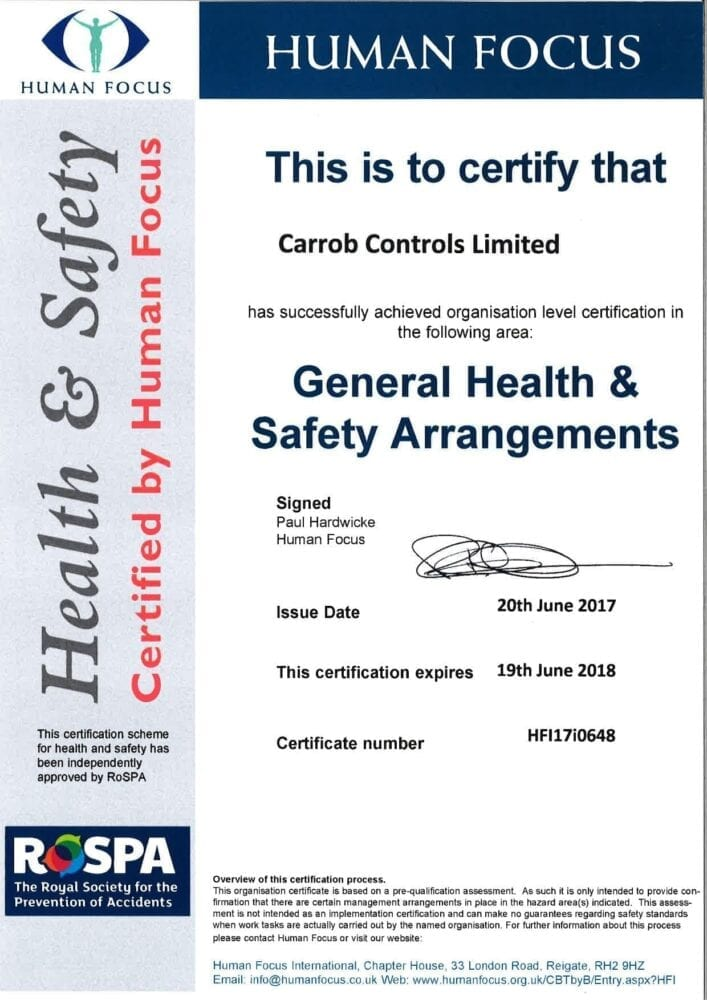 Human focus certificate