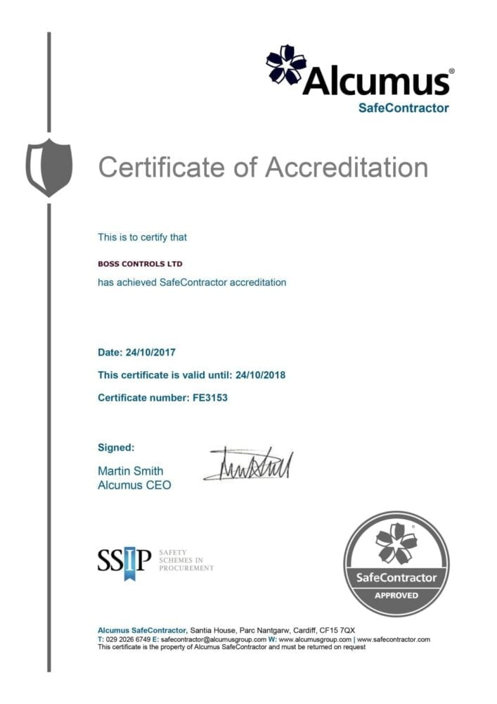 Safe Contractor accreditation