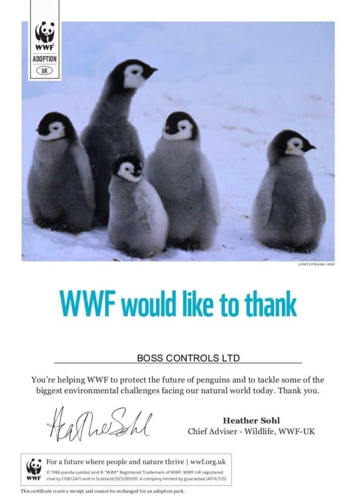 Boss Controls has adopted an Adélie penguin as part of its ...