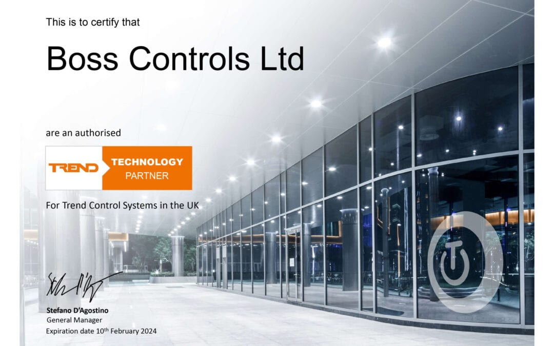 Boss Controls is now a Trend Technology Partner